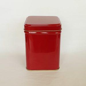 Tea storage red tin