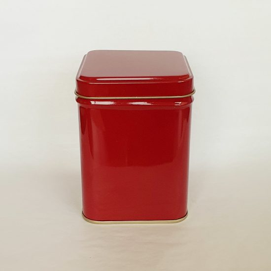 Tea storage red tin